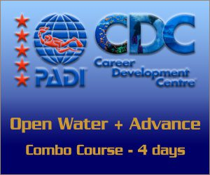 PADI Combo Open Water with Advance course