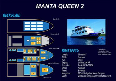 Scuba Diving Phuket - MV Manta Queen 2 boat map large